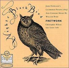 Dowland/Byrd:Night's Black Bird; 1989 CD, Fretwork, Lute, West Germany, Wea Corp