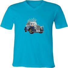 Disney Cars The Queen Unisex Men Women Video Game Cartoon V-Neck T-Shirt