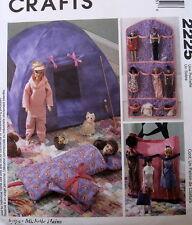 Michelle Hains doll pattern Barbie Tent sleeping bag Wall Organizer tote bag