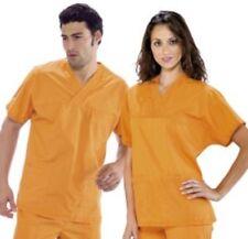 casacca chiusa camice a V corto ARANCIONE infermieri veterinari scuole spa 45013