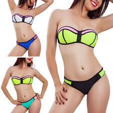 Bikini donna costume bagno multicolor moda mare piscina swimwear sexy B5409