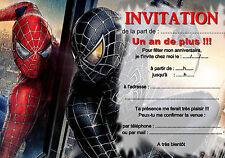 5 ou 12 cartes invitation anniversaire SPIDERMAN réf 266