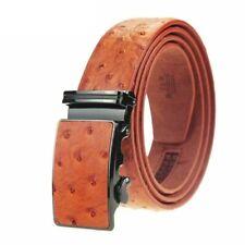 Hommes italienne Ceinture en cuir marron autruche Design S M L XL XXL 35 mm