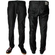 Volcom Men's Blackbird Dark Black Wash Jeans Mens Low Rise Denim Jeans Casual