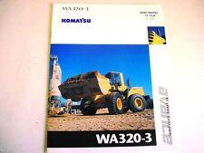 Komatsu WA320-3 Wheel Loader Color Brochure