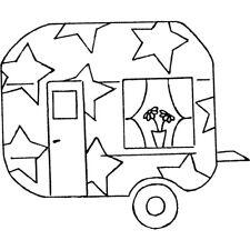 'Star Caravan' Rubber Stamp (RS019920)