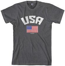 Threadrock Men's USA American Flag T-shirt Pride United States