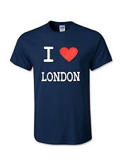 I Love London Da Uomo T-Shirt Divertente T-Shirt Souvenir Qualità Schermo Stampato-Unisex