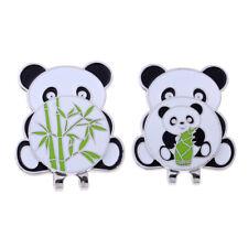 Golf Ball Marker Hat Clip Detachable Magnetic Cap Clip Panda Bamboo Pattern
