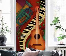 3D Guitar Piano Notes Cartoon 6 Wall Paper Wall Print Decal Wall AJ WALLPAPER CA