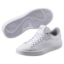 Puma Smash v2 L Jr Low-Top Unisex Kinder Damen Schuhe Sneaker Laufschuhe Weiss