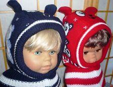 Kinder Schlupfmütze Schalmütze Mütze TEDDY 2-6Jahr.Fleece 2 Ohren Bären Gesicht