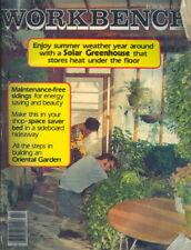 1978 Workbench Magazine: Solar Greenhouse Summer Cover