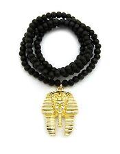 "Egypt Pharaoh King Tut Pendant 24"", 27"" Various Chain Hip Hop Fashion Necklace"