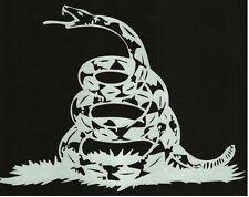 Don't Tread On Me REFLECTIVE sticker Gadsden Flag Freedom Tea Party Liberty