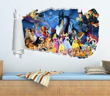 Disney Characters 3D Torn Hole Ripped Wall Sticker Decor Decal Art Kids WT45