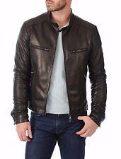 US Men Leather Jacket Hommes veste cuir Herren Lederjacke chaqueta de cuero R75c