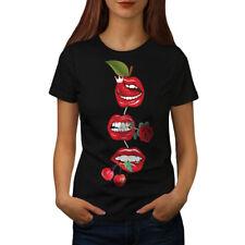 Lip Cherry Cool Fashion Femmes T-Shirt S-2XL Neuf | wellcoda
