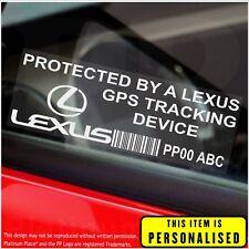 4 x LEXUS personalizzato segnalatore GPS-ADESIVI DI SICUREZZA-ALLARME-Tracker, AUTO