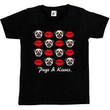 Pugs & Kisses Rouge à lèvres lèvres enfants garçons / filles t-shirt