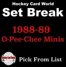 (HCW) 1988-89 O-Pee-Chee Minis NHL Hockey Cards Mint Set Break 1-46 - You Pick