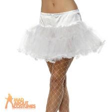 White Tulle Tutu Petticoat Ladies Fancy Dress Costume Accessory New