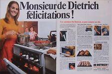 PUBLICITÉ MONSIEUR DE DIETRICH FELICITATIONS - CUISINIÈRE - CHAUFFAGE CENTRAL