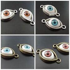 25PCS Vintage Alloy Eye Connector Bracelet Pendant Findings Charm Jewelry