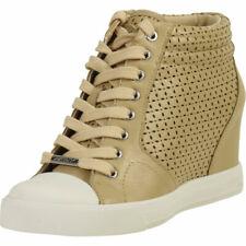Donna Karan DKNY Women's Cindy Buff Fashion Wedge Sneakers Shoes