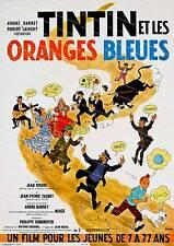 Tin Tin, Oranges Bleues ,  Vintage movie poster reproduction.
