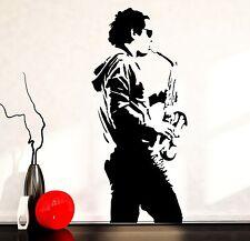 Wall Vinyl Music Man Playing Jazz Guaranteed Quality Decal (z3507)