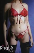 NEW Red Bikini Bra & G String Set 36 38 B  Dancer?