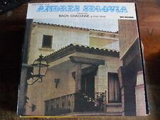 "ANDRES SEGOVIA  "" BACH: CHACONNE Y OTRAS OBRAS ""  LP VINILE"