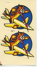 vtg impko water decal jet plane tiger lightning hot rod race motorcycle rocket