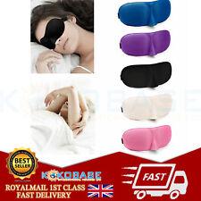 3D Soft Padded Blindfold Blackout Eye Mask Travel Rest Sleep Aid Shade Cover