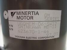 Yaskawa Electric UGQMEM-06-SW12 SHINKAWA MD-11 Minertia Motor w/ 30 day warranty
