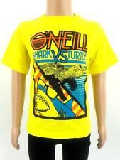original O'Neill T-Shirt Shirt Kurzarmshirt Ship-Trap gelb Print Tiere