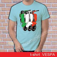 T SHIRT VESPA PIAGGIO SPECIAL 50 ITALIA STYLE TRICOLORE