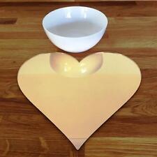 a forma di cuore Set tovaglietta - SPECCHIO DORATO