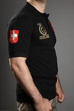 """Golden Crown """"Gstaad Suisse"""" Polo Shirt schwarz L-5XL"""