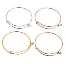10PCS Fashion Wire Bangle Bar Bracelets jewerly DIY making (3 colors)