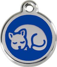 Médaille acier émaillé gravée pour chat - chaton - red dingo 11 couleurs 2cm