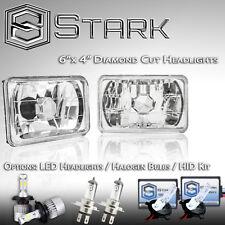 H4651 H4652 H4666 H4656 Head Light Glass Housing Diamond Lamp Chrome 4x6 - (B)