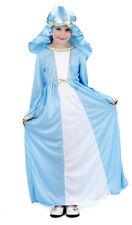 NIÑA MARY JANE Disfraz Belén Navidad Azul Disfraz Pascua NUEVO 4-6 AÑOS