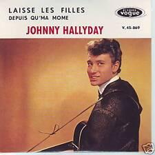 CD 2 titres JOHNNY HALLYDAY  laisse les filles