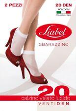 2 PAIA CALZINI 20 DEN VELATI DONNA LIABEL ART. 2057 SBARAZZINO