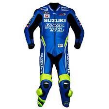 Suzuki Motorcycle Suit Biker Racer MotoGp Sports Motorbike Cowhide Leather Suit