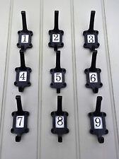 School coat hooks Black hooks Vintage Hook /Numbered Coat Hook 1 to 12