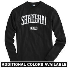 Shanghai China Long Sleeve T-shirt LS - Pudong Chinese Mandarin - Men / Youth