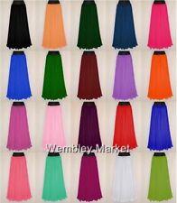 9 Yard Chiffon Full Circle Skirt Belly Dance Costume Gypsy Flamenco Jupe Maxi NW